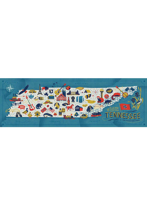 True South Puzzle Company Tennessee Map Puzzle