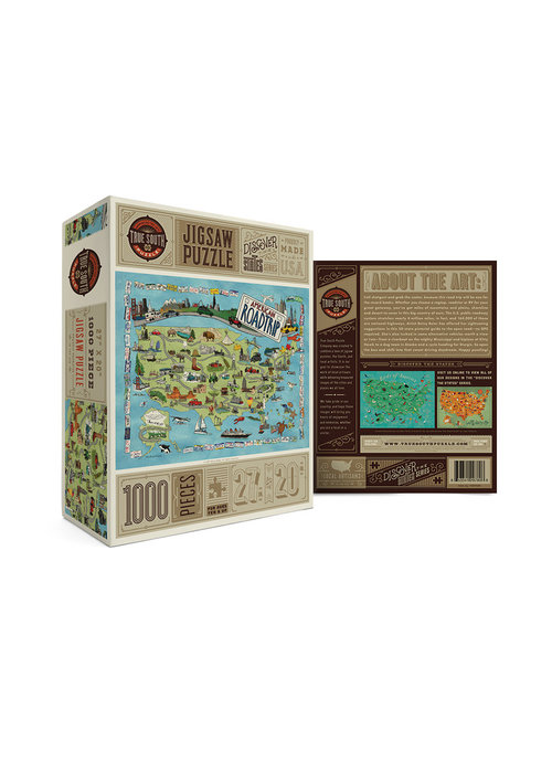 True South Puzzle Company American Road Trip Puzzle
