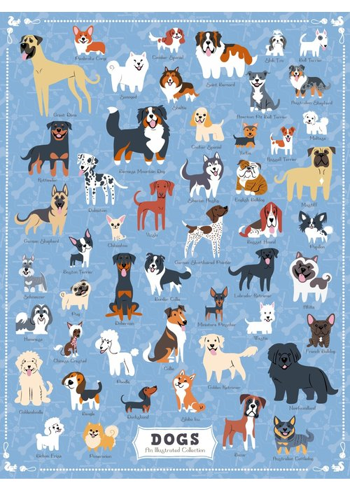 True South Puzzle Company Dog Breeds Puzzle
