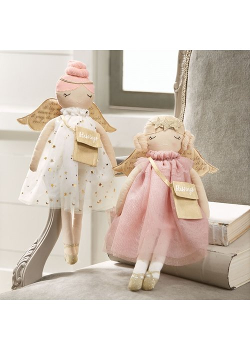 Mudpie Angel Doll (Pink Dress)