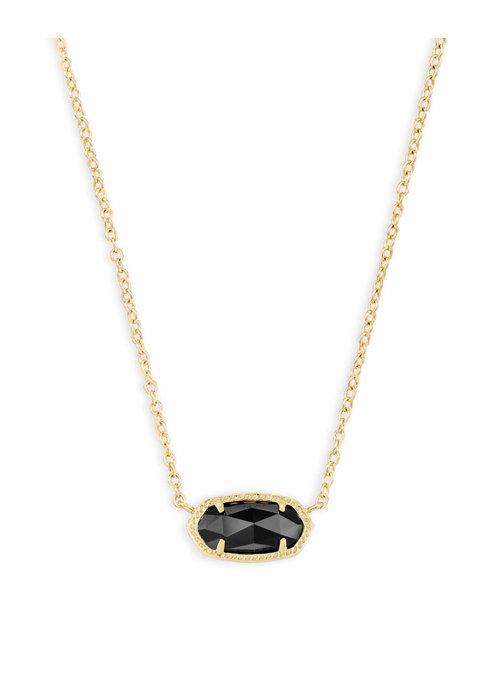 Kendra Scott Elisa Necklace Gold Metal Black Glass