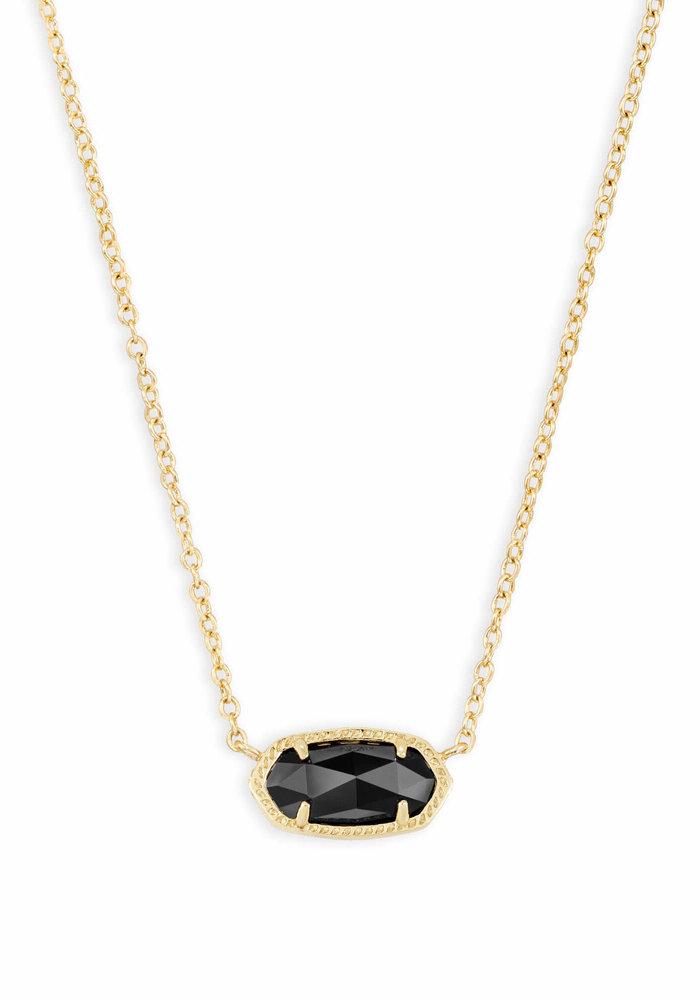 Elisa Necklace Gold Metal Black Glass