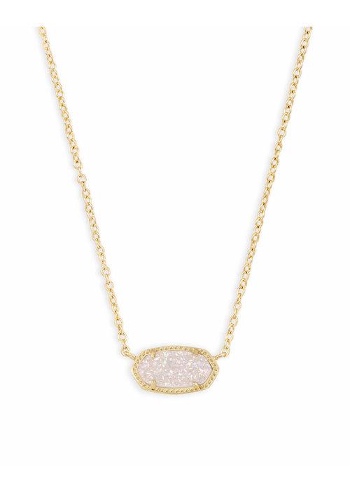Kendra Scott Elisa Necklace Gold Metal Iridescent Drusy