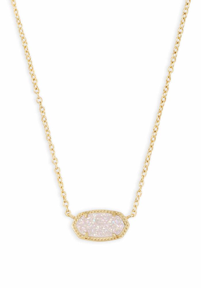 Elisa Necklace Gold Metal Iridescent Drusy