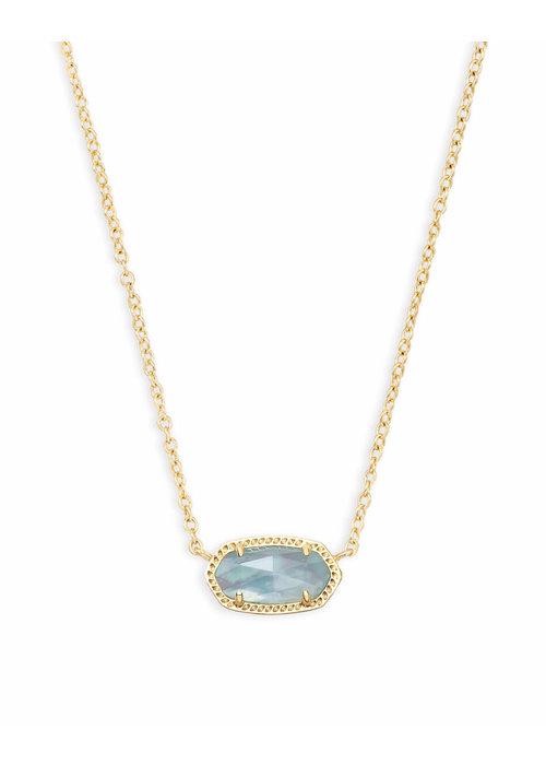 Kendra Scott Elisa Necklace Gold Metal Light Blue Illusion