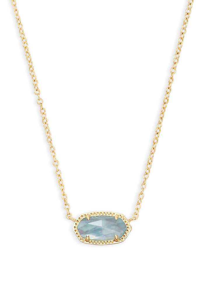 Elisa Necklace Gold Metal Light Blue Illusion