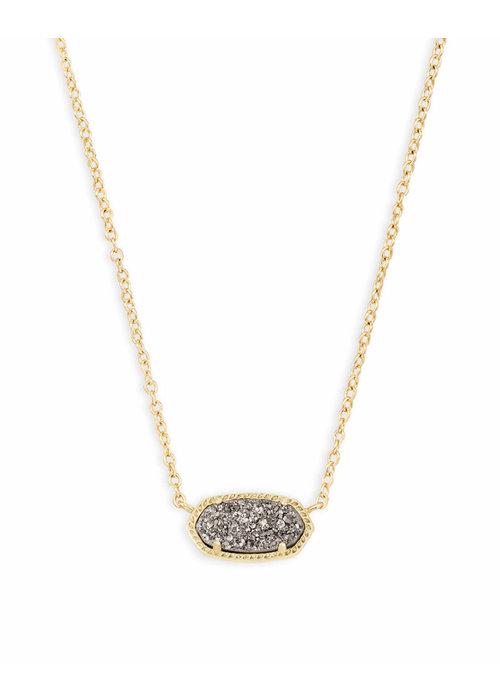 Kendra Scott Elisa Necklace Gold Metal Platinum Drusy