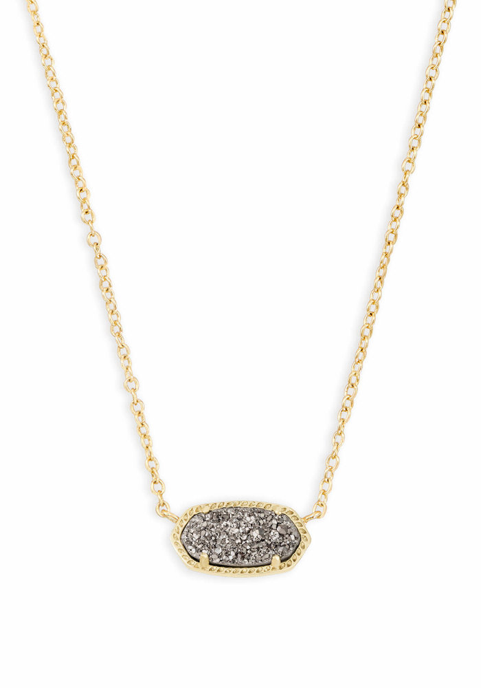 Elisa Necklace Gold Metal Platinum Drusy