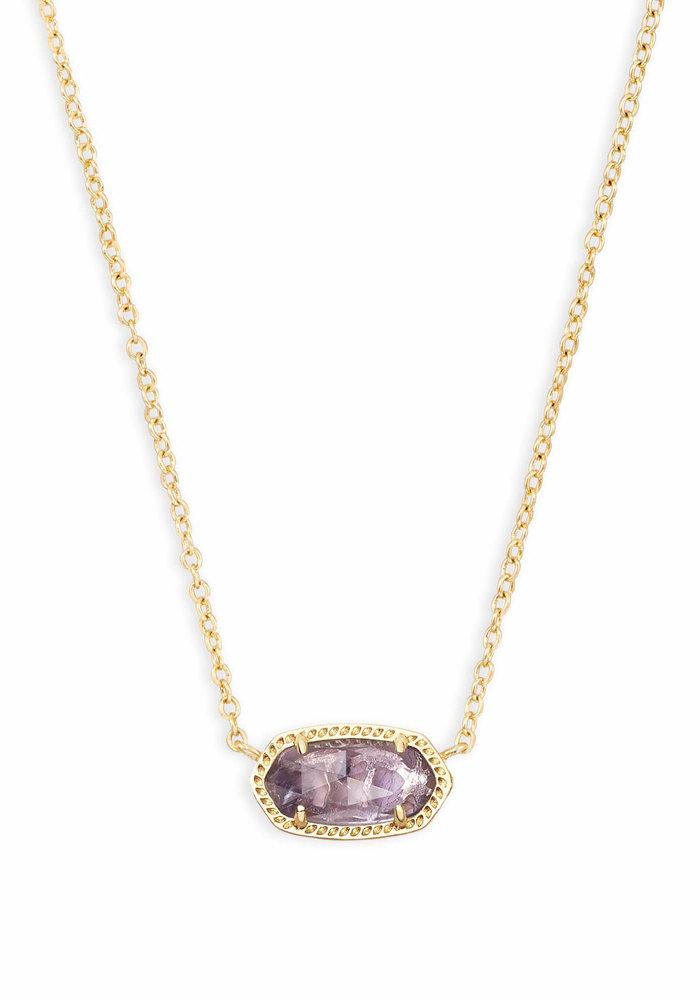 Elisa Necklace Gold Metal Purple Amethyst