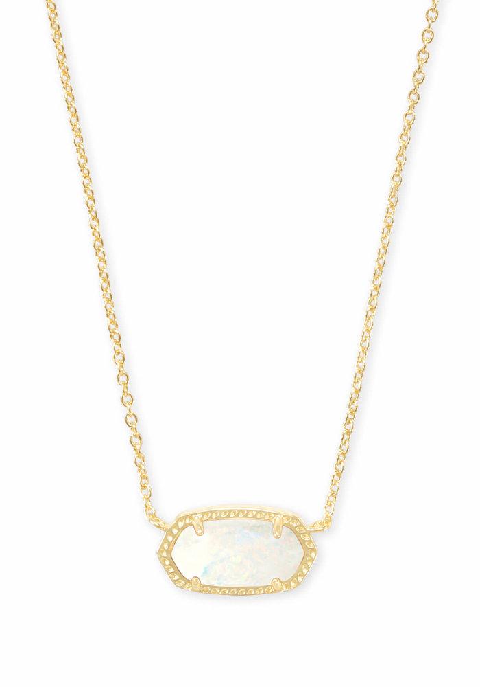 Elisa Necklace Gold Metal White Opal