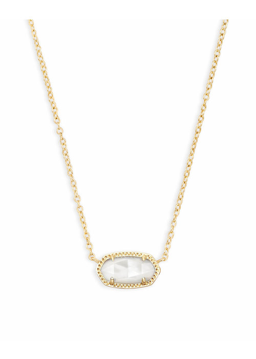 Kendra Scott Elisa Necklace Gold Metal Mother of Pearl (Ivory)