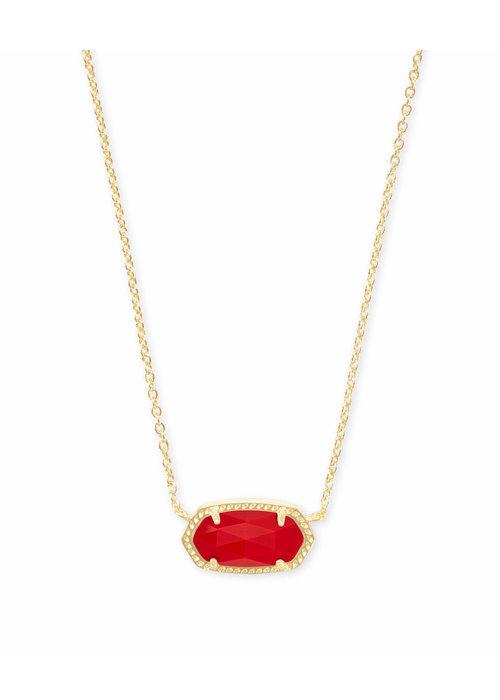 Kendra Scott Elisa Necklace Gold Metal Bright Red