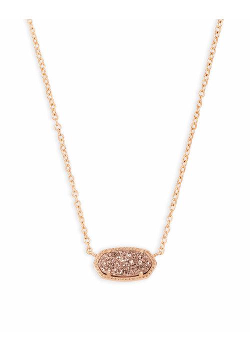 Kendra Scott Elisa Necklace Rose Gold Metal Rose Gold Drusy