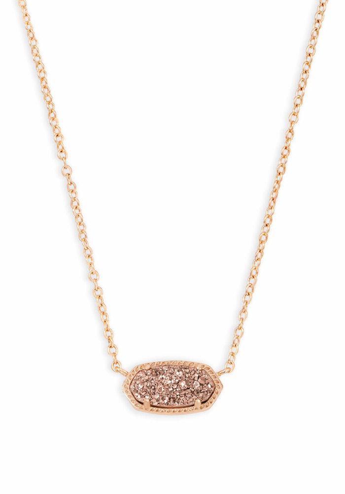 Elisa Necklace Rose Gold Metal Rose Gold Drusy