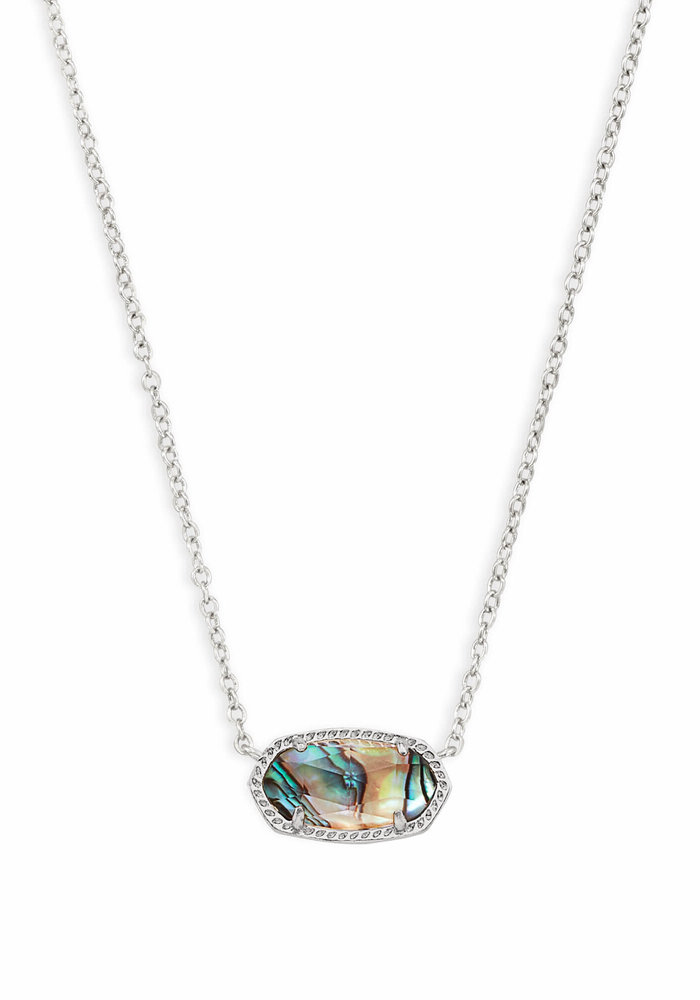 Elisa Necklace Silver Metal Abalone Shell