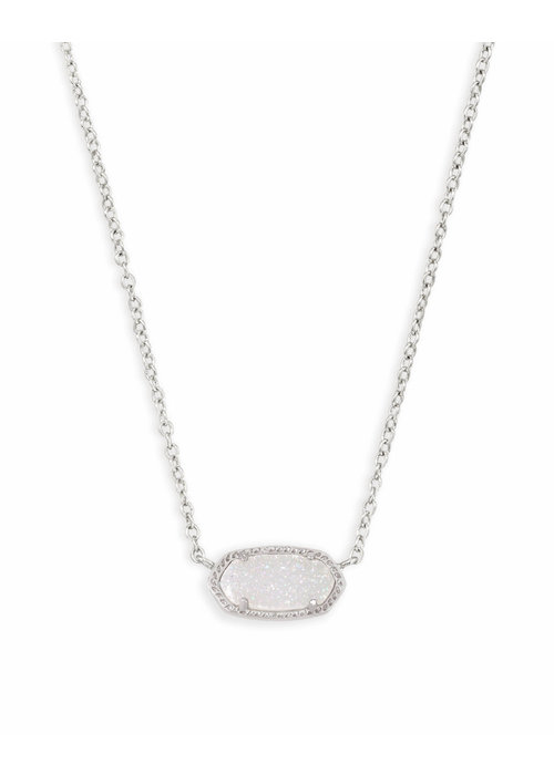 Kendra Scott Elisa Necklace Rhodium Iridescent Drusy