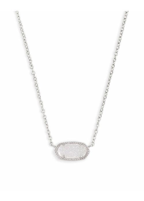 Kendra Scott Elisa Necklace Silver Metal Iridescent Drusy