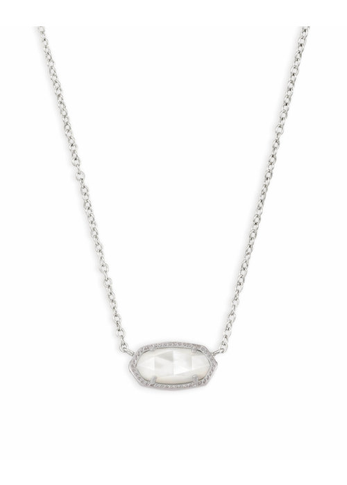 Kendra Scott Elisa Necklace Silver Metal Mother of Pearl (Ivory)