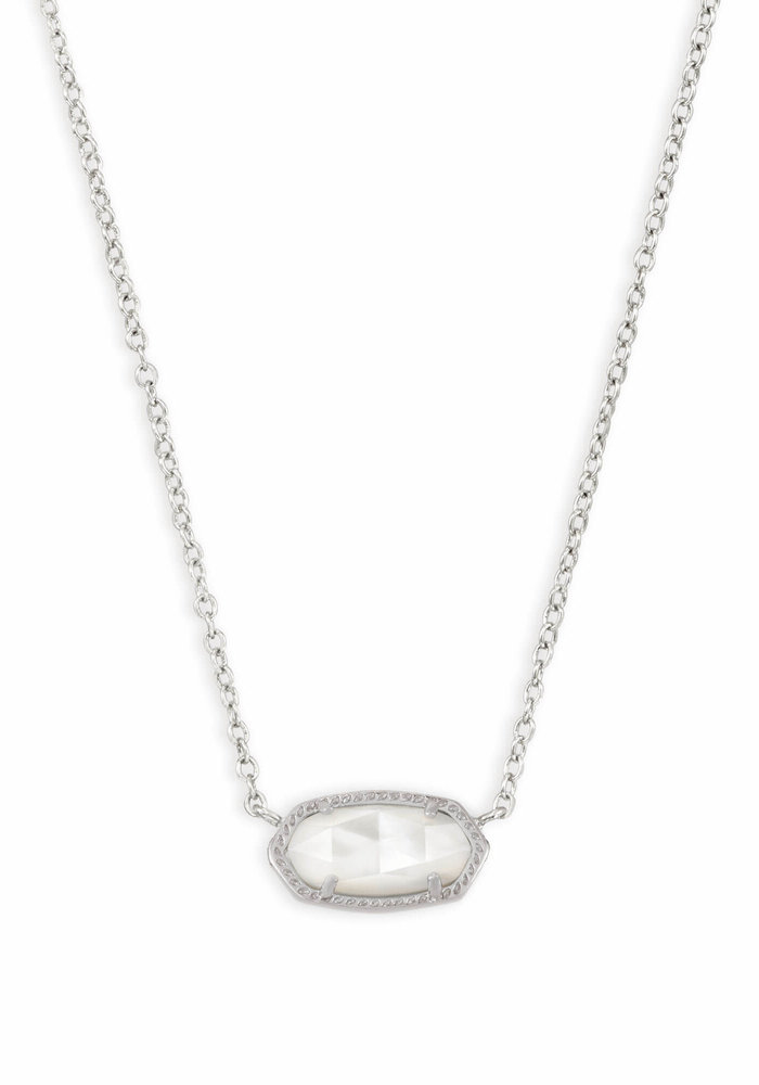 Elisa Necklace Silver Metal Mother of Pearl (Ivory)