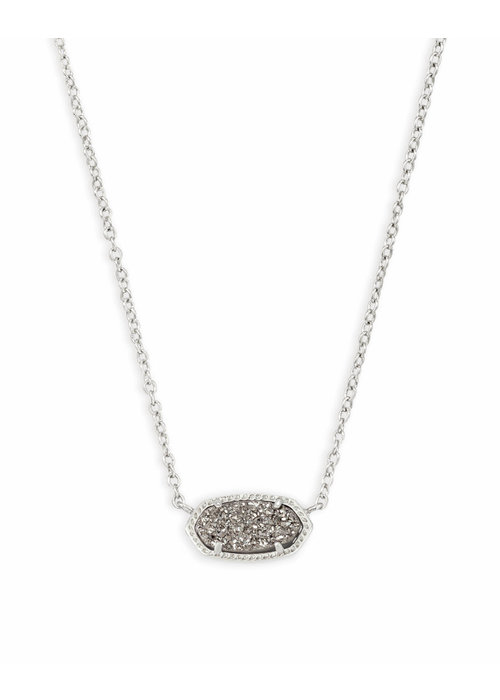 Kendra Scott Elisa Necklace Rhodium Platinum Drusy