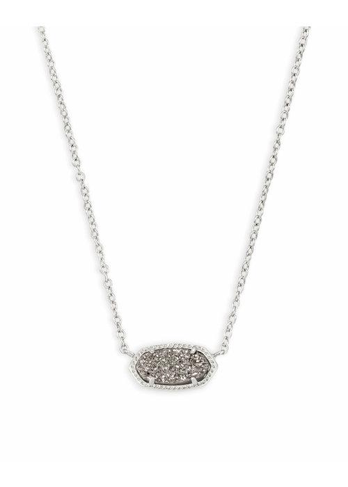 Kendra Scott Elisa Necklace Silver Metal Platinum Drusy