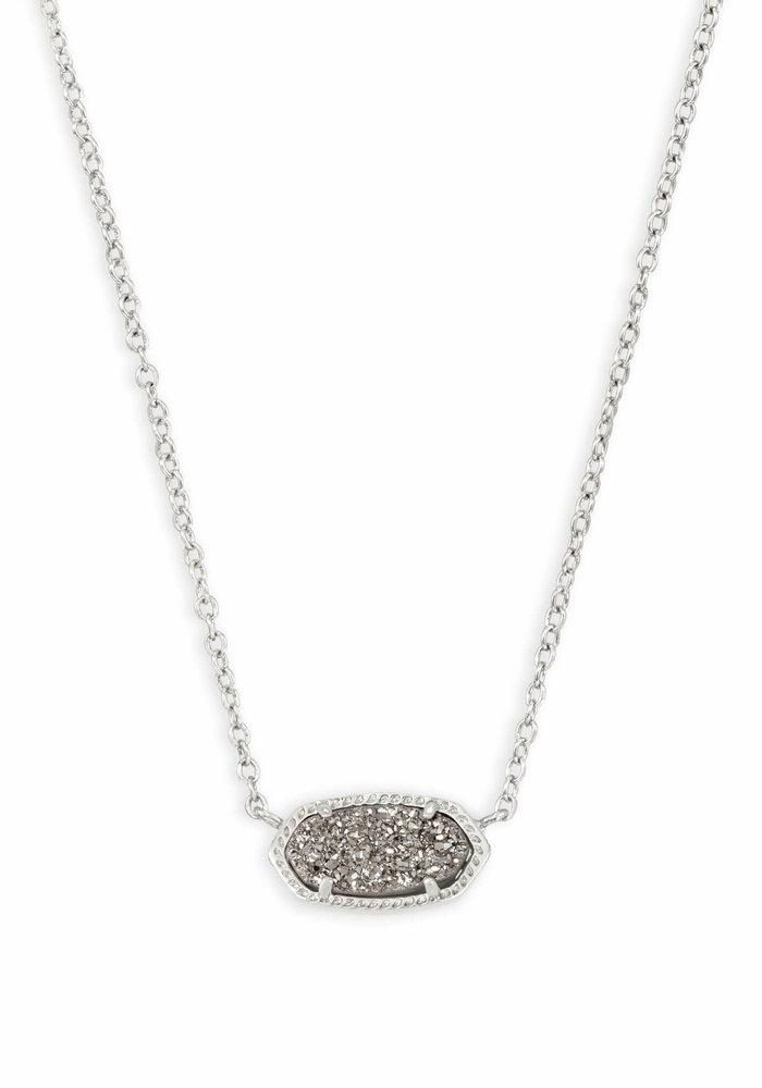 Elisa Necklace Silver Metal Platinum Drusy