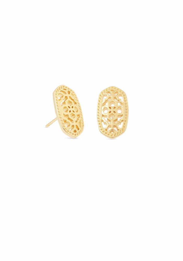 Ellie Earring Gold Metal Gold Filigree