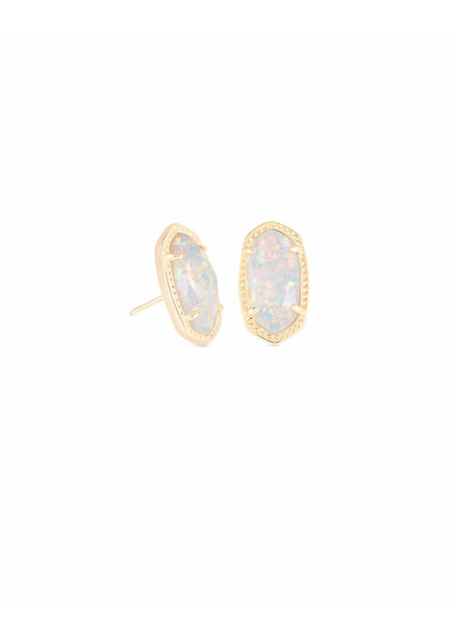 Kendra Scott Ellie Earring Gold Metal White Opal