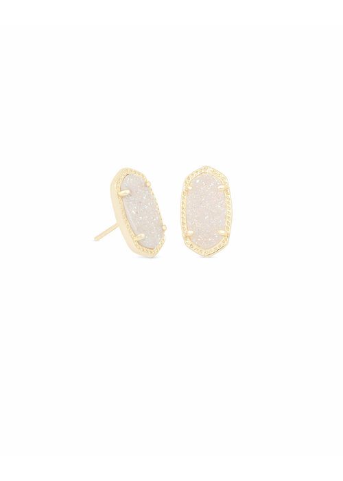 Kendra Scott Ellie Earring Gold Metal Iridescent Drusy