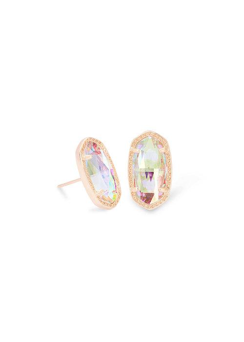 Kendra Scott Ellie Earring Rose Gold Dichroic Glass