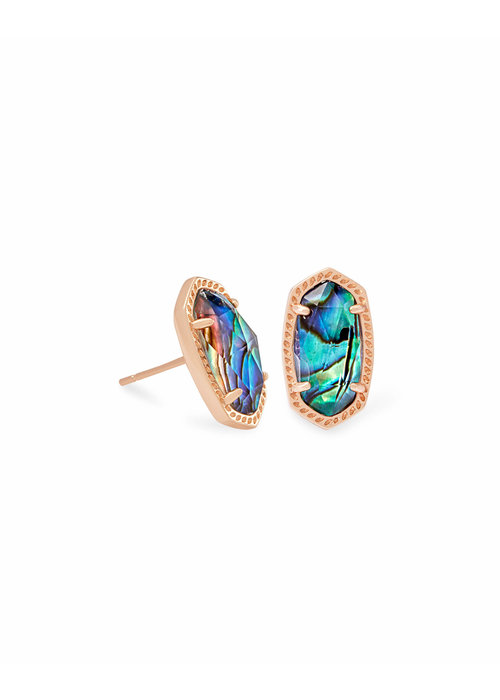 Kendra Scott Ellie Earring Rose Gold Metal Abalone Shell