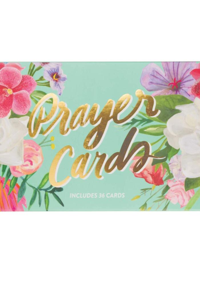 Prayer Cards Mint Floral