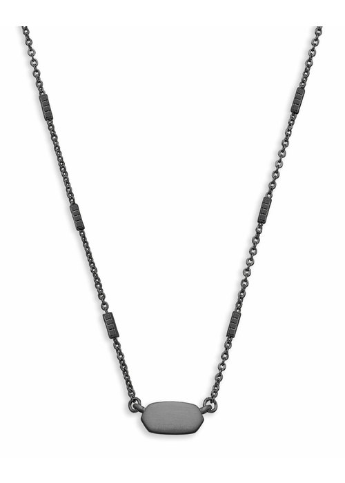 Kendra Scott Fern Necklace Black Gunmetal