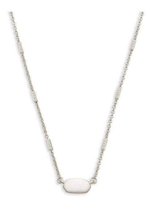 Kendra Scott Fern Necklace Bright Silver Metal