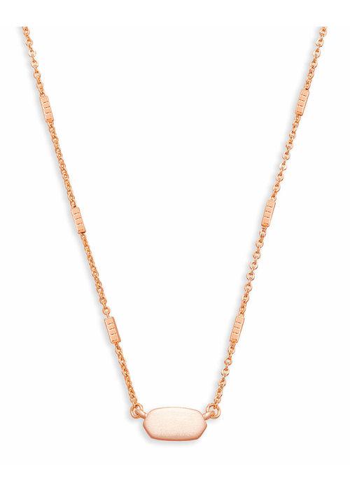 Kendra Scott Fern Necklace Rose Gold Metal