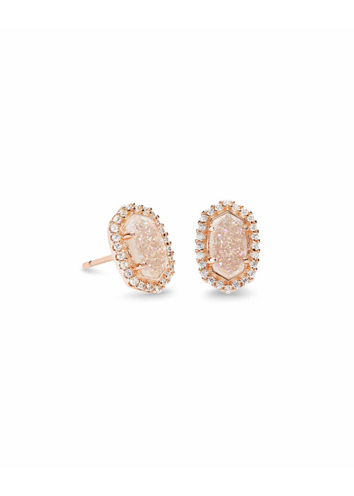 Kendra Scott Cade Earring Rose Gold Iridescent Drusy