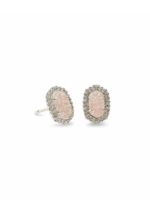 Kendra Scott Cade Earring Silver Iridescent Drusy