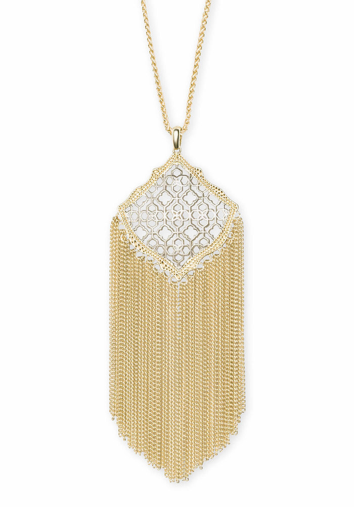 Kingston Necklace Gold Metal Gold-Silver Filigree Mix