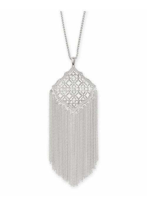 Kendra Scott Kingston Necklace Silver Metal Filigree