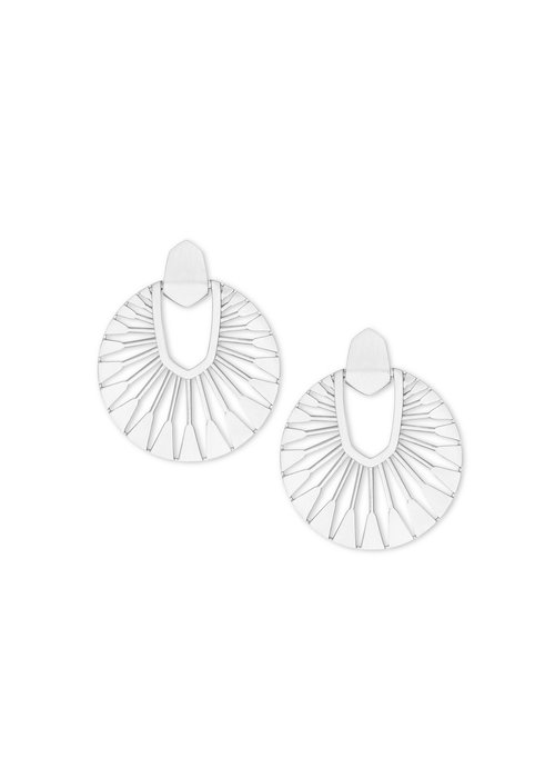Kendra Scott Didi Sunburst Drop Earring Silver Metal