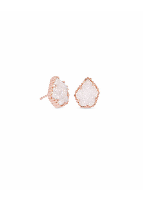 Kendra Scott Tessa Earring Rose Gold Metal Iridescent Drusy