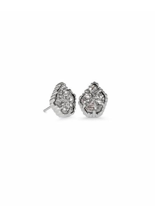 Kendra Scott Tessa Earring Rhodium Platinum Drusy