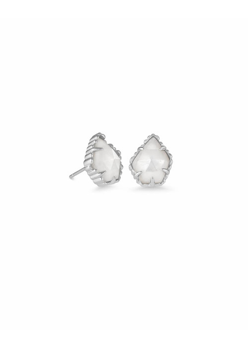 Kendra Scott Tessa Earring Silver Ivory Mother of Pearl