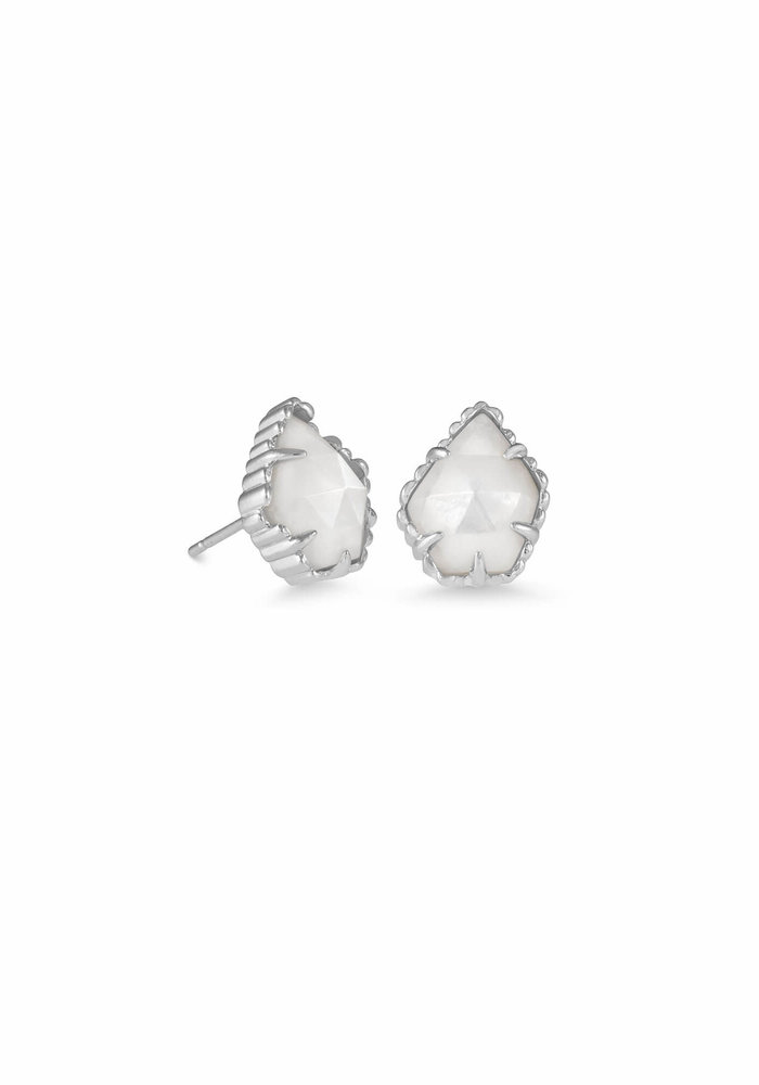 Tessa Earring Silver Ivory Mother of Pearl