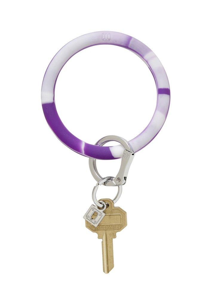 Deep Purple Marble Silicone Big O Ring