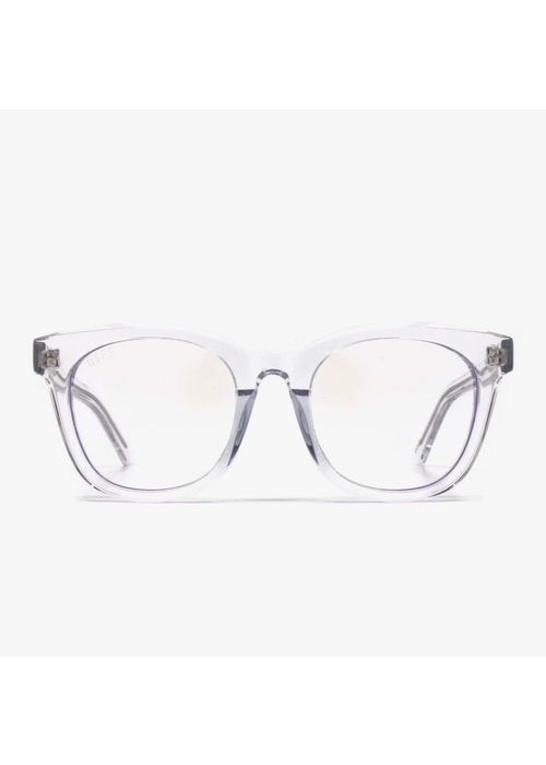 DIFF Eyewear DIFF Ryder Clear Crystal Blue Light Blocking Glasses