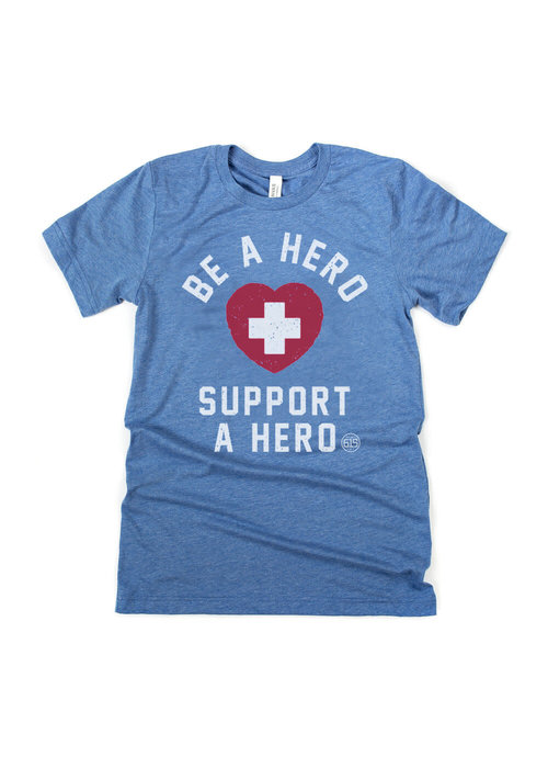Project 615 Be a Hero, Support a Hero Mask-Donating Unisex Tee