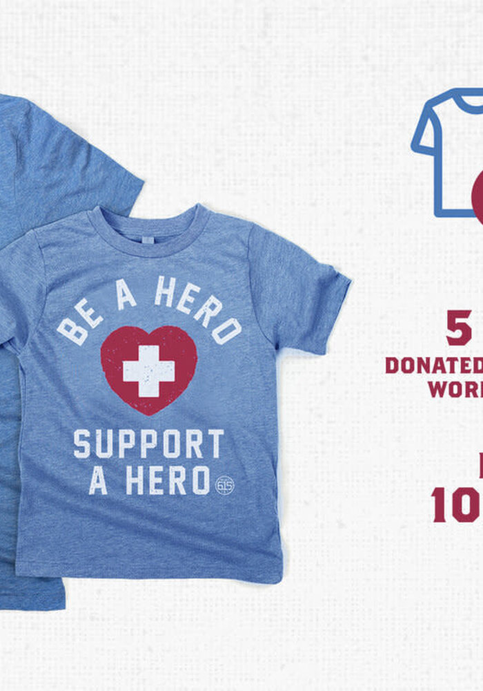 Be a Hero, Support a Hero Mask-Donating Unisex Tee