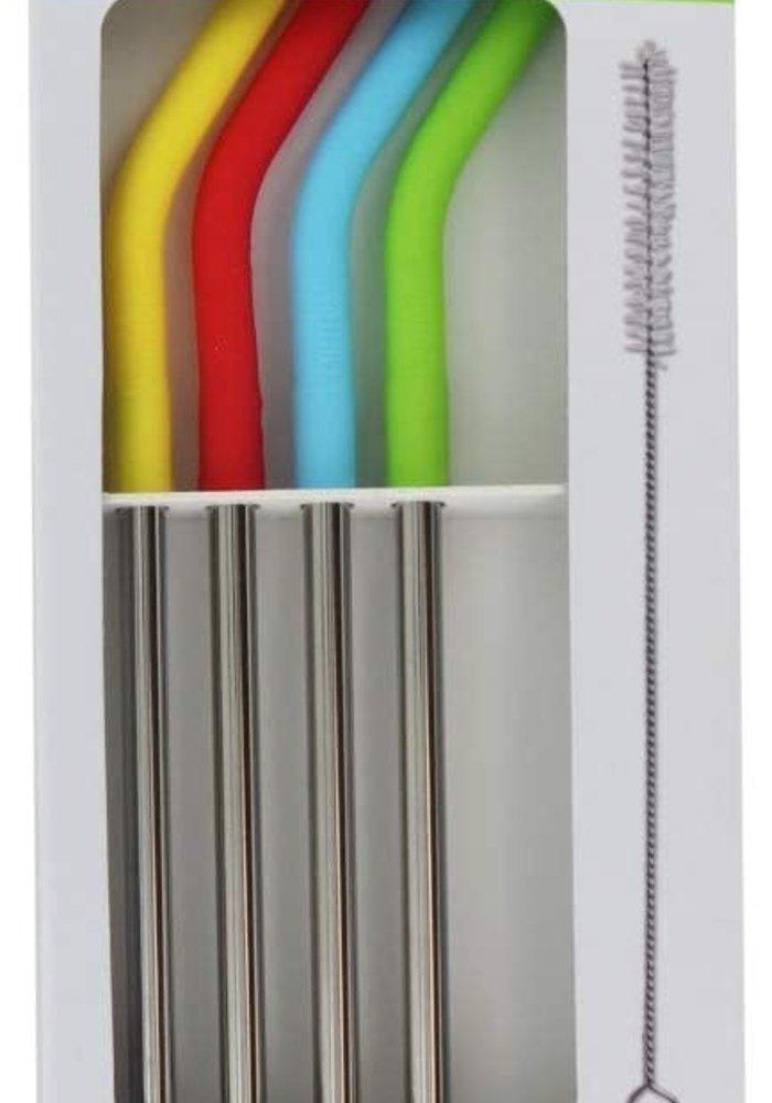 Eco-Friendly 4PK Stainless Steel Straws