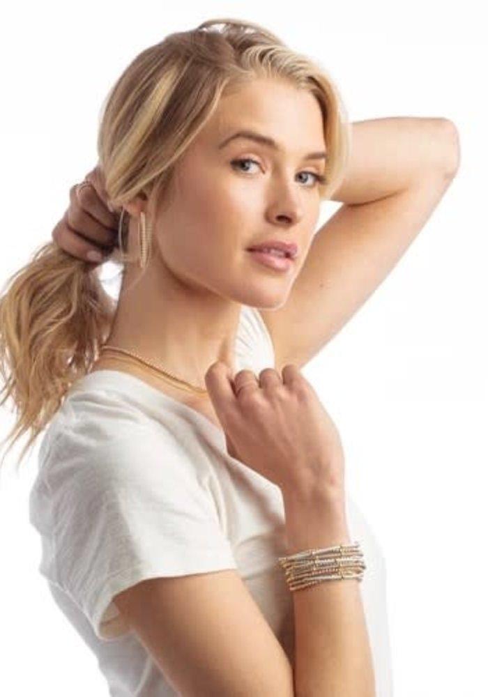 """e""ssentials Bracelet Stack (Blush/Grey)"